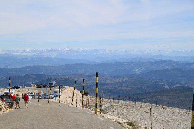 Juni 2011, Mont Ventoux, Blick in die Alpen